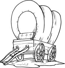 black and white covered wagon. click to see printable version of wood covered wagon coloring page black and white