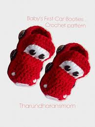 baby s first car booties kids shoes lightning mcqueen cars crochet pattern instant pdf file