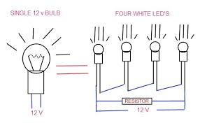 led bulbs and lights passat so the led circuit needs to contain something that acts like a 5 watt bulb the standard method is to add a resistor in parallel the led light