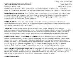 Example Military Resume Custom Military Experience On Resume Example Resume Summary Statement
