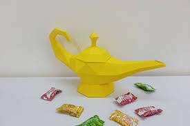 Diy Aladdin Genie Lamp 3d Papercraft By Paper Amaze