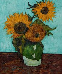 sunflowers first version by vincent van gogh