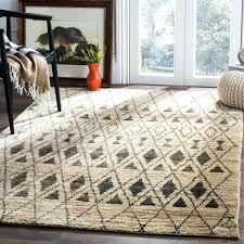 hand knotted tangier ivory black wool jute rug chunky pottery barn