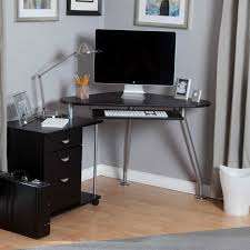 furniture perfect workspace with chic small corner computer desk offer minimalist black file drawers combine awesome glass corner office desk glass