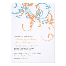 orange and turquoise wedding invitations. orange and teal double floral wedding invitation turquoise invitations