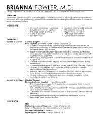 Best Surgeon Resume Example Livecareer