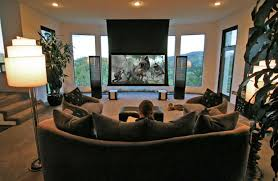 contemporary media room decorating arrangement idea. Modern Decorating Small Houses Furniture For Inspiring  Interior Homes Contemporary Media Room Decorating Arrangement Idea C
