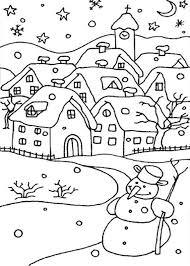 21 Disegni Di Paesaggi Invernali Da Colorare Scuola Disegni Di