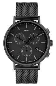 men s timex® watches nordstrom timex® fairfield chronograph mesh strap watch 41mm