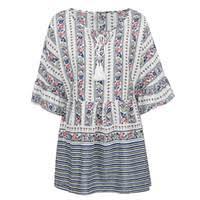 White <b>Mini Boho</b> Dress UK