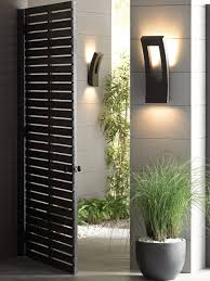 decorations lighting bathroom sconce lighting modern. Outdoor Wall Mounted Lighting Modern Wooden Door Dark Brown Lamp Holder Decoration Grey Decorations Bathroom Sconce O