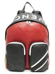 givenchy men s mc3 colorblock leather backpack red black