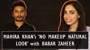 learn mahira khan s no makeup natural look with babar zaheer sajal aly ayesha babar makeup beauty beauty