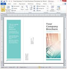 Trifold Template For Word Free Business Tri Fold Brochure Template For Word