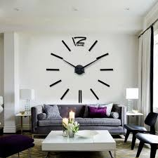 whole new quartz clocks modern design 3d diy real big wall clock