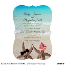 Tide Chart Ormond By The Sea Big Starfish Bride Groom Marriage By The Sea Invitation