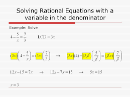 7 solving rational equations with a variable in the denominator example solve