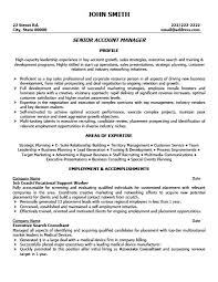 Account Manager Resume Inspiration Senior Account Manager Resume Template Premium Resume Samples