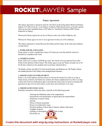7+ Nanny Contract Template | Timeline Template