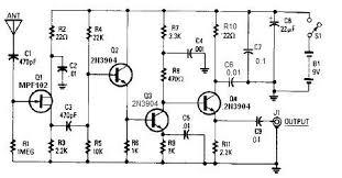 fm transistor radio circuit diagram images 14 20db gain simple active antenna circuit diagram