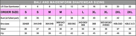 Maidenform Waist Nipper Size Chart Flexees 6868 Waist Cincher Waist Trainer 20 Off