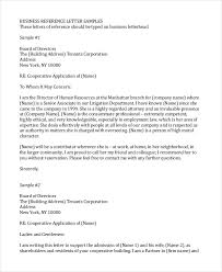 Sample Of Professional Letter Professional Reference Letter 12 Free Sample Example