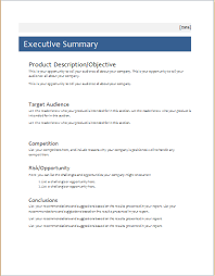 Official Documents Template Executive Summary Template For Ms Word Document Hub