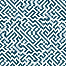 Graphic Pattern Cool Vector Graphic Abstract Geometry Maze Pattern Blue Seamless