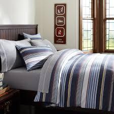 hudson stripe duvet cover sham navy multi