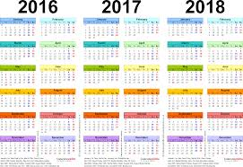 year calender three year calendars for 2016 2017 2018 uk for pdf