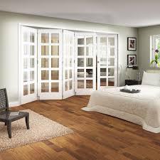 Jeld Wen Internal White Primed Shaker 5 Door Room Fold Slide