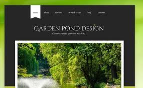 Small Picture Garden Design Responsive Website Template 43644