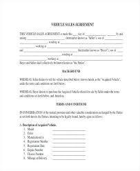 Motor Vehicle Sale Agreement Vehicle Sale Deed Format Rafaelfran Co