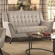mid century modern loveseat. Coaster Baby Natalia Mid-Century Modern Loveseat - Fine Furniture Mid Century