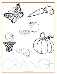 Christmas List Coloring Page Orange Sheet Color Santa Littledelhisfus