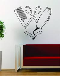 Small Picture Barber Clippers Scissors Design Barbershop Hair Salon Decal
