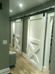 indoor door styles barn style closet doors homes bedroom sliding ideas rustic bypass fresh d pocket barn door closet
