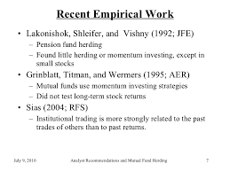 analyst recommendations mutual fund herding   7