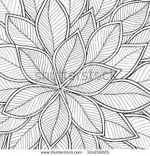 pattern for coloring book leaves ethnic fl retro doodle tribal