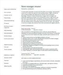 Resume For Store Manager Retail Store Manager Resume Management ...