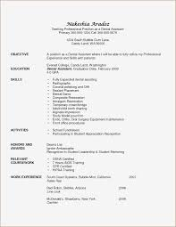 Dental Assistant Resume Objective Examples Myacereporter Com