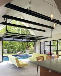Glass garage door in kitchen Restaurant Glass Garage Doors For Houses Glass Garage Doors For Opening Out To The Screen Porch Used Glass Garage Doors Interlearninfo Glass Garage Doors For Houses Garage Door Leading From The Kitchen