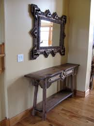 hallway table and mirror. Custom Rustic Furniture Don Mcaulay Hall Table Tables With Mirrors Hallway And Mirror R