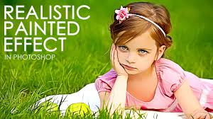 realistic painted effect turn photo into painting photo tutorial with psd file