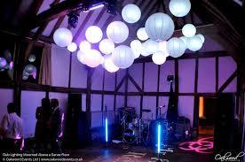 club lighting mounted above a dance floor