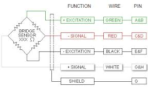 wiring color code transducer techniques internal temperature compensation and balance network not shown