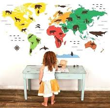 large world map wall decal wall map decal world map wall decal popular wall decal world