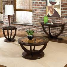 round wooden tabnle with glass countertop for living room table ideas