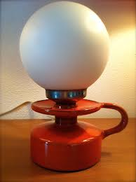 Retro Lamp Retro Tafellamp Vintage Lamp Oranje Orange Lamp Dit Is