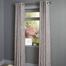 Karluga Black Woven Eyelet Lined Curtains (W)167 cm